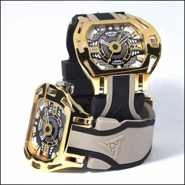 Gold Automatic Watch Racer SX3