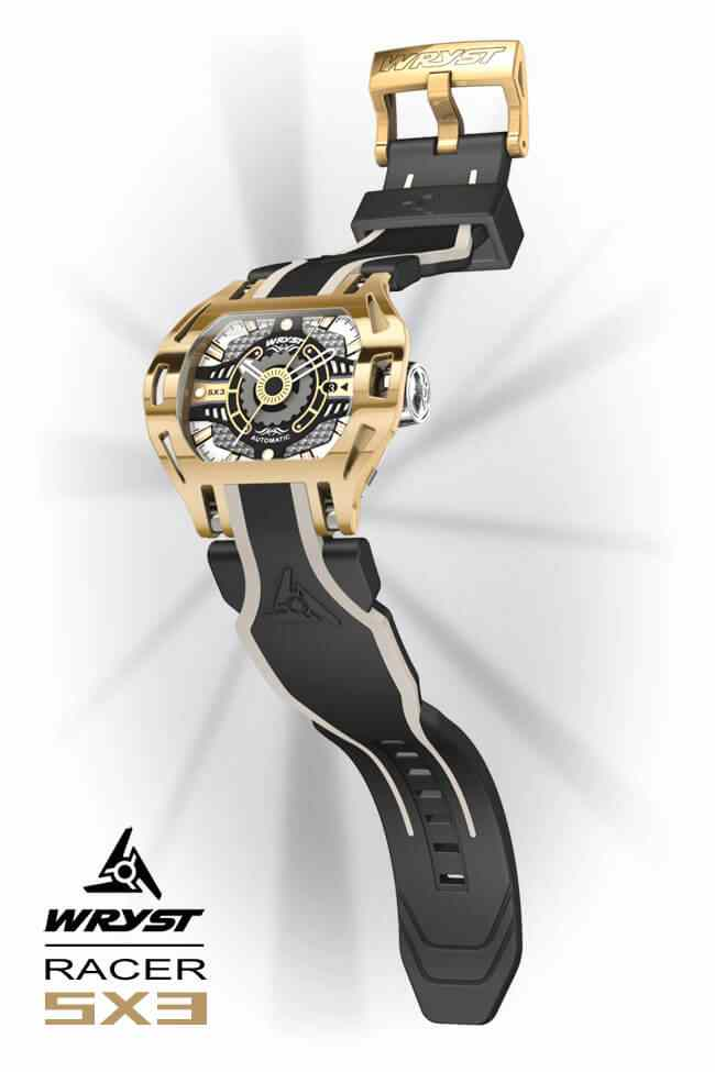 Gold Automatic Watch Wryst Racer SX3