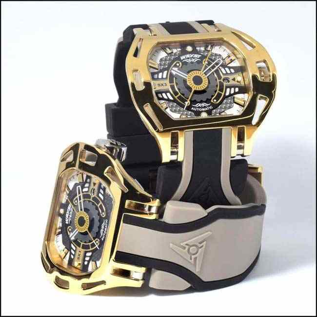 Montre automatique de luxe Or jaune