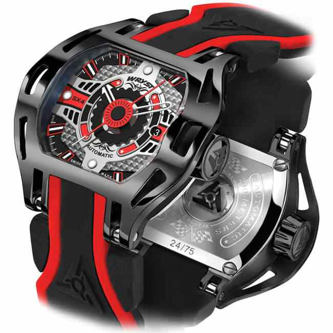 Limited Edition Motorsport Automatic Watches for Men in Black and Red