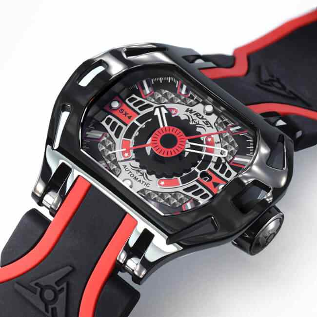 Red and Black Racing Automatic Swiss Watch