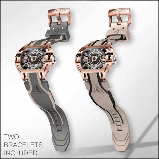Rose Gold Automatic Watch Racer SX2
