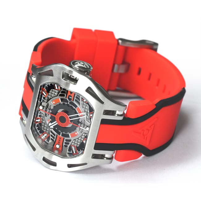 Steel Red Mechanical Watch Wryst SX4