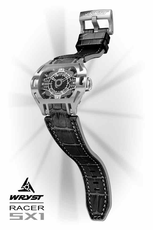 Leather cuff watch band for the Racer SX1 Automatic