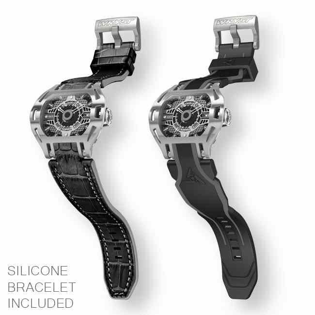 Montre luxe Wryst Racer SX1 automatique avec deux bracelets inclus