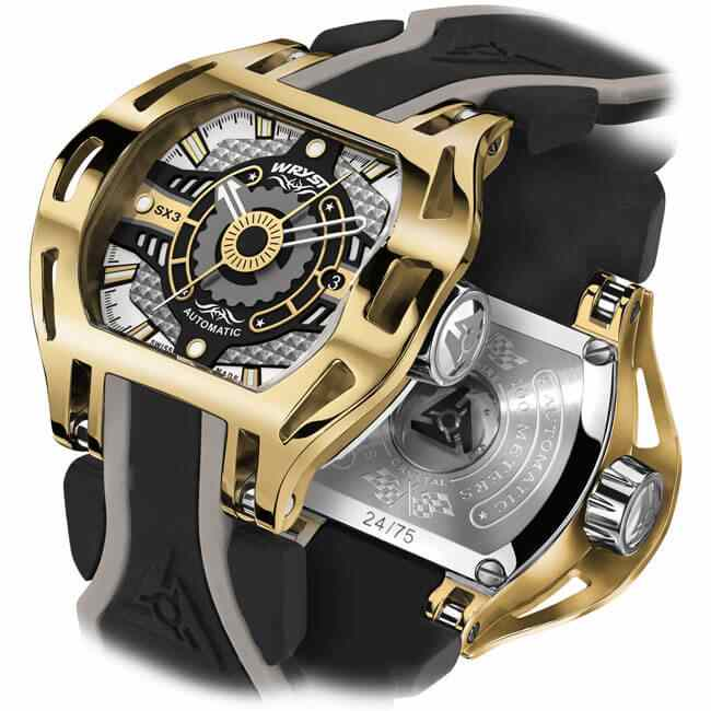 Swiss gold plated watch for men Wryst Racer SX3