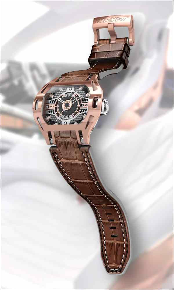 Montre Wryst Racer SX2 Automatique En Or Rose