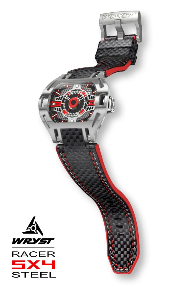Wryst Automatic Steel Watch Carbon Fiber