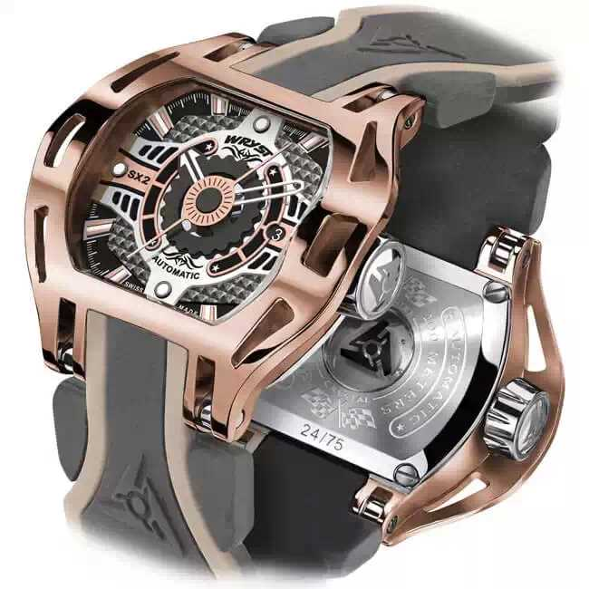 Montre automatique en or rose