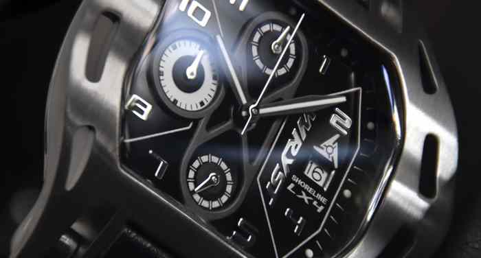 Black dial sport watch