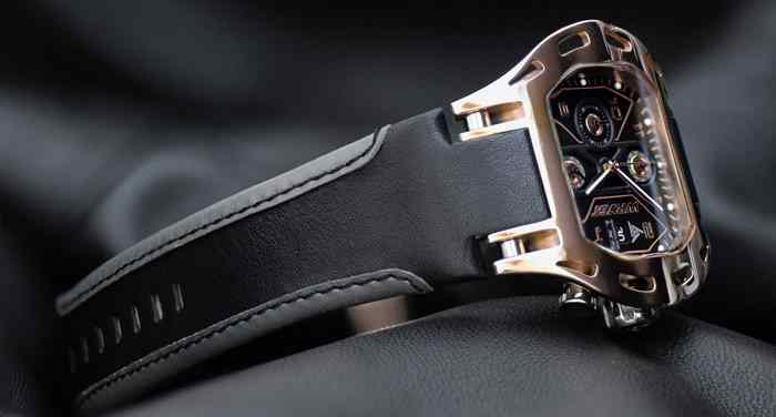 best rose gold swiss watch with leather strap