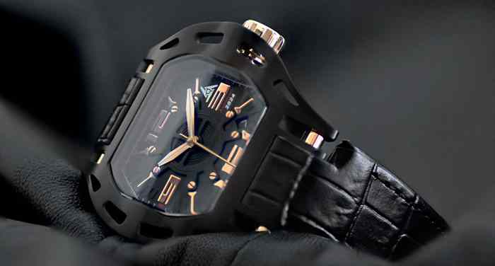 montre de sport noir DLC luxe swiss made
