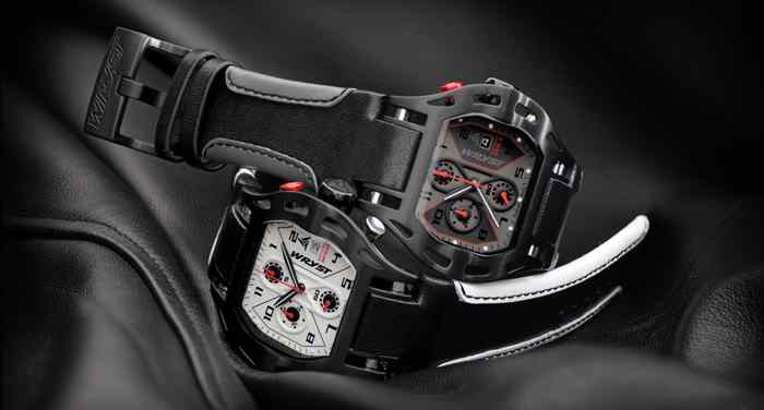 black motors sport watch leather strap swiss made wryst