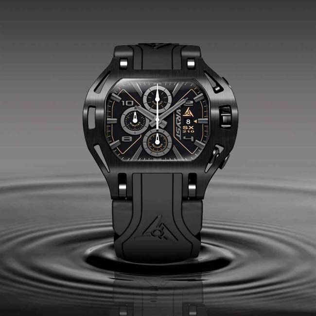 Black on Black Swiss Sports Watch