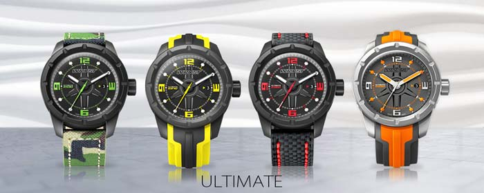 men sports watch swiss made limited edition black DLC extreme sports