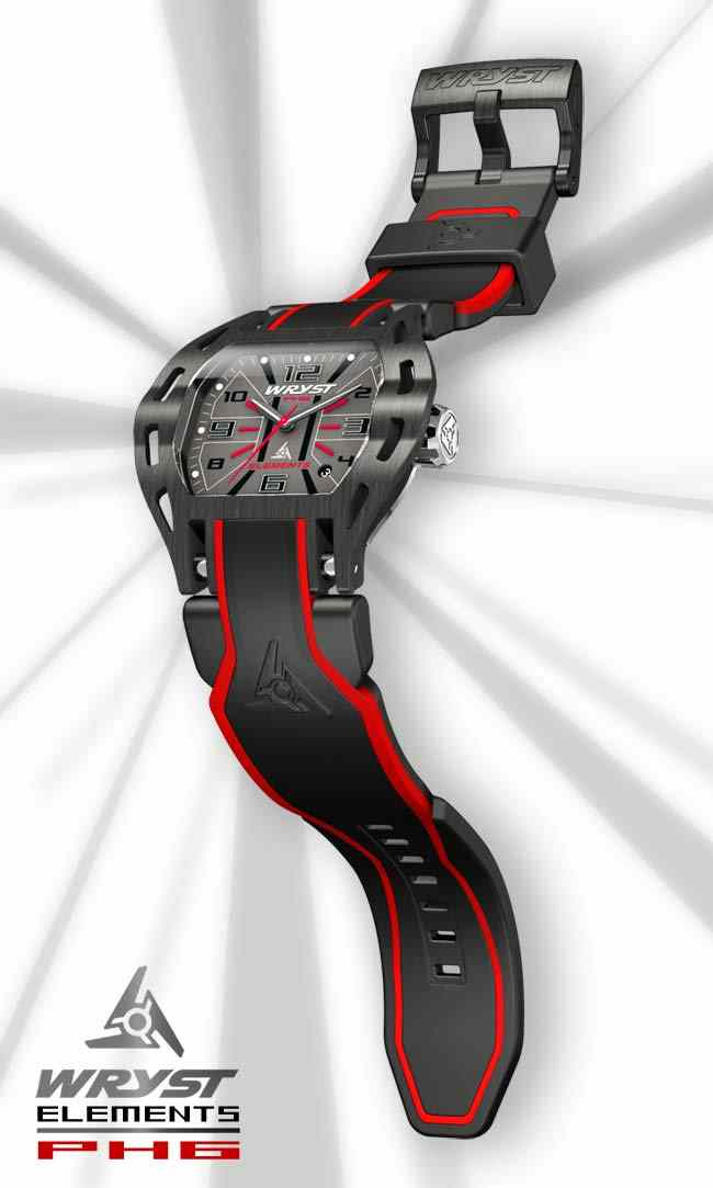 Red sports watch Wryst Elements PH6