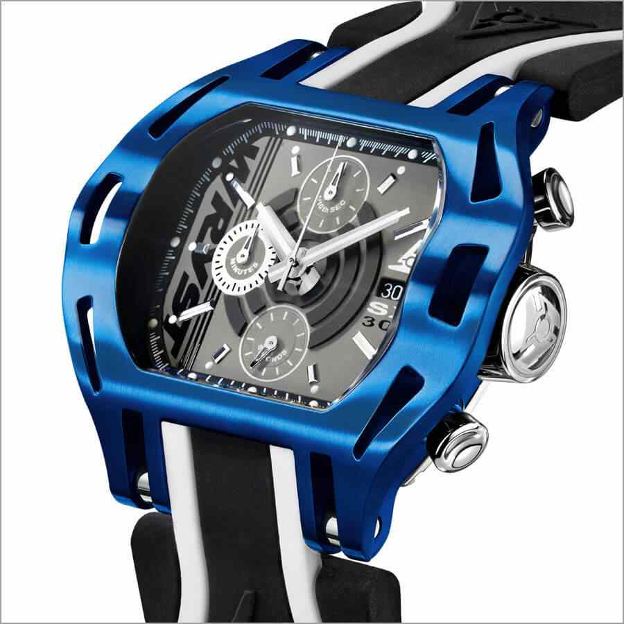 Blue Case Swiss Chronograph Watch
