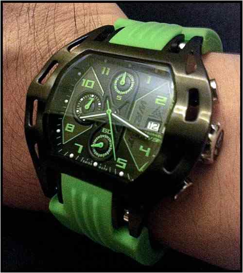 Black watch with green details to win on Ablogtowatch