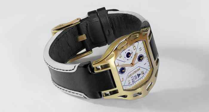Gold Swiss Watch With Leather Strap