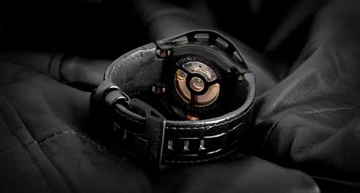 Swiss ETA movement see-through sports watch