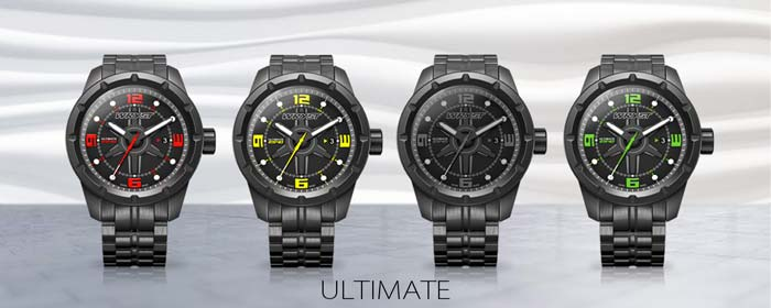 Stainless Black Watches With Swiss Movement