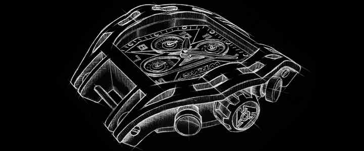 Conception de la montre sportive swiss made nouvelle marque de montre