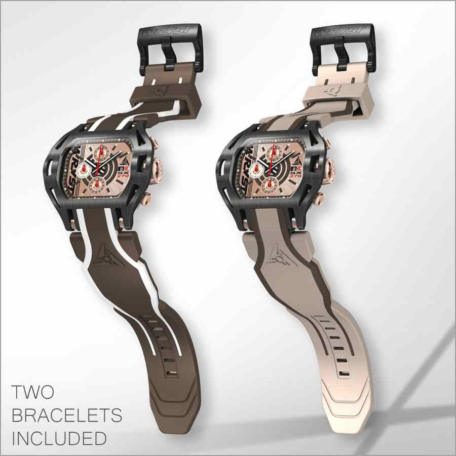 Black and Rose Gold Swiss Watch Wryst