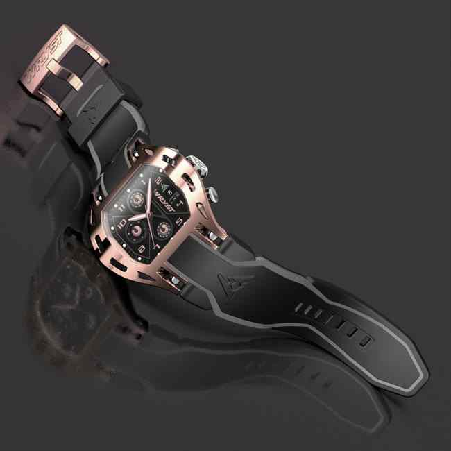 Luxury rose gold watch swiss made