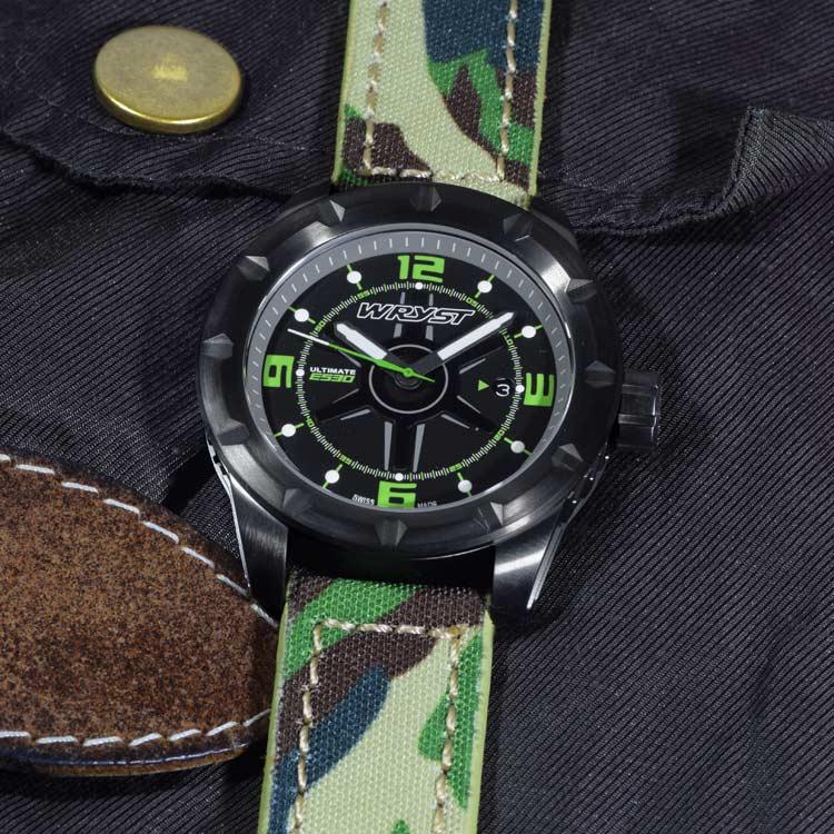 Reloj suizo del ejército Cristal de zafiro