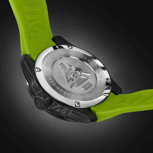 black & green swiss sport watch for men