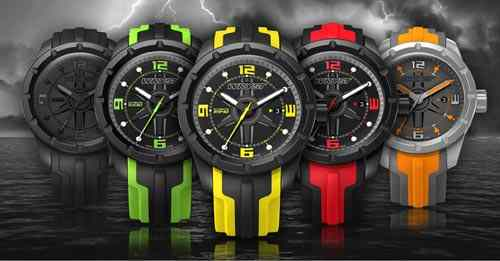 water resistant Swiss black watch