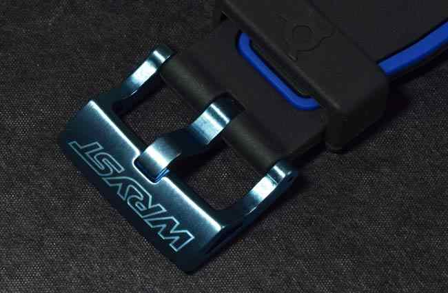 blue sport watch anodized buckle