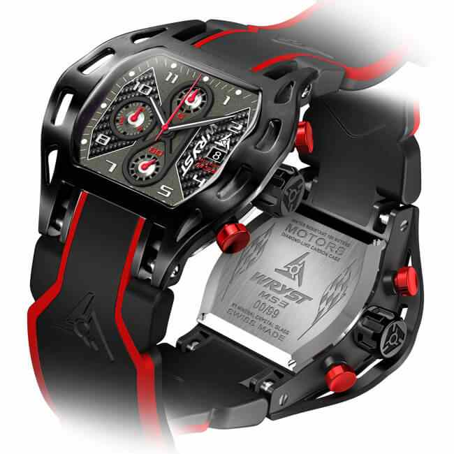 Carbon Fiber Watch for Motorsport Swiss Made