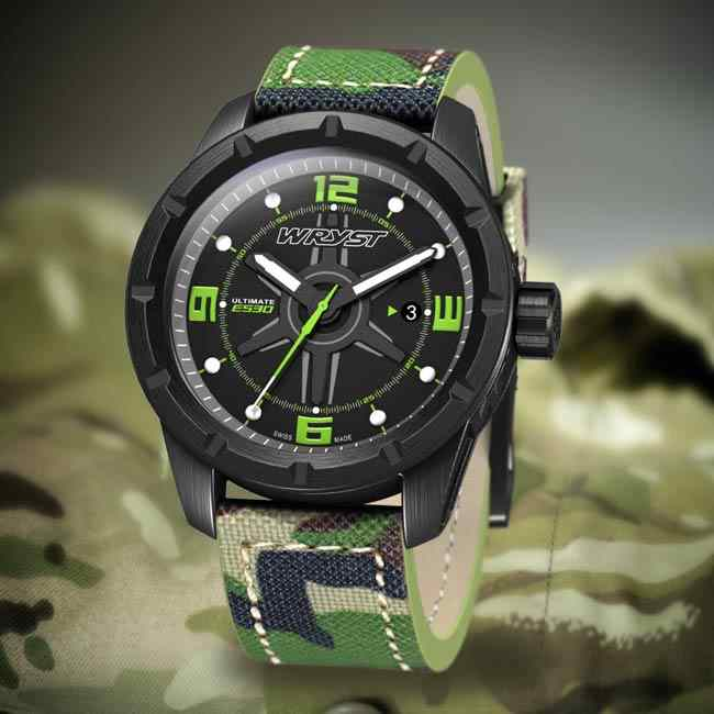 Mens military camouflage watch