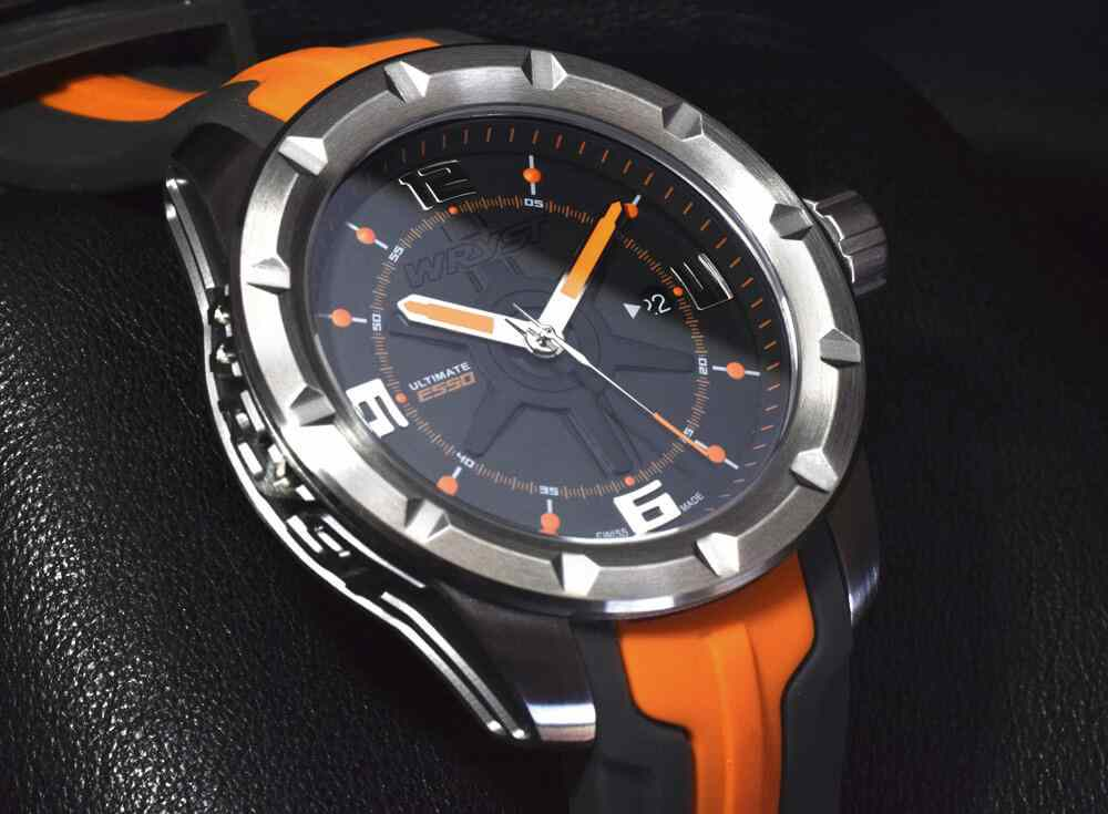 Swiss made limited edition mens orange watch