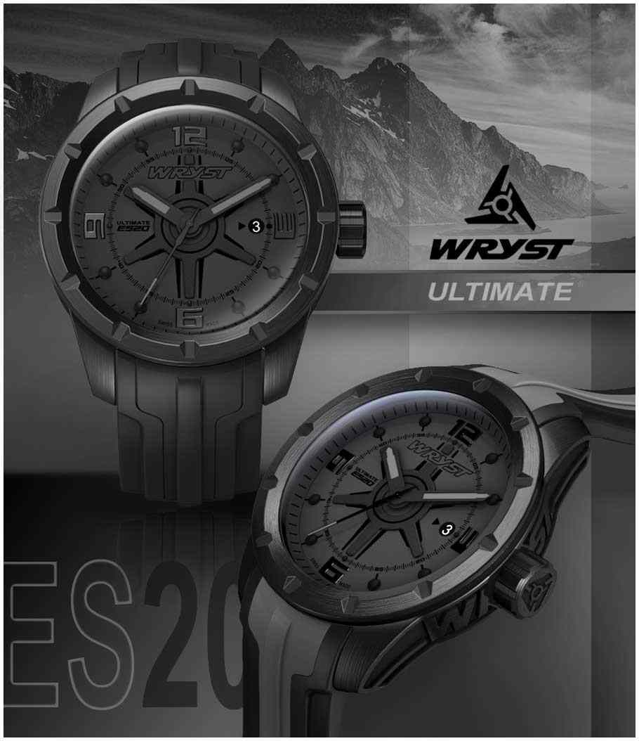 All black swiss watch black DLC sport watch