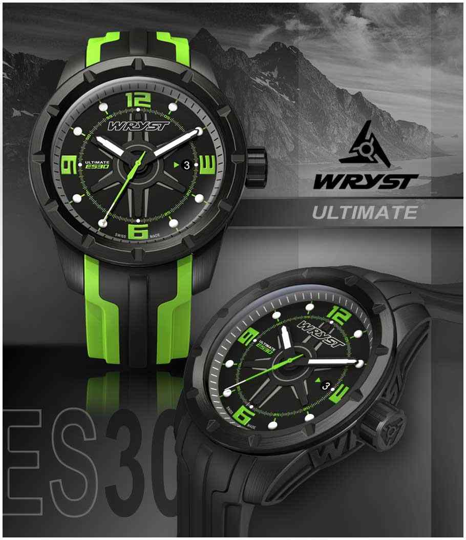black swiss watch green 2015