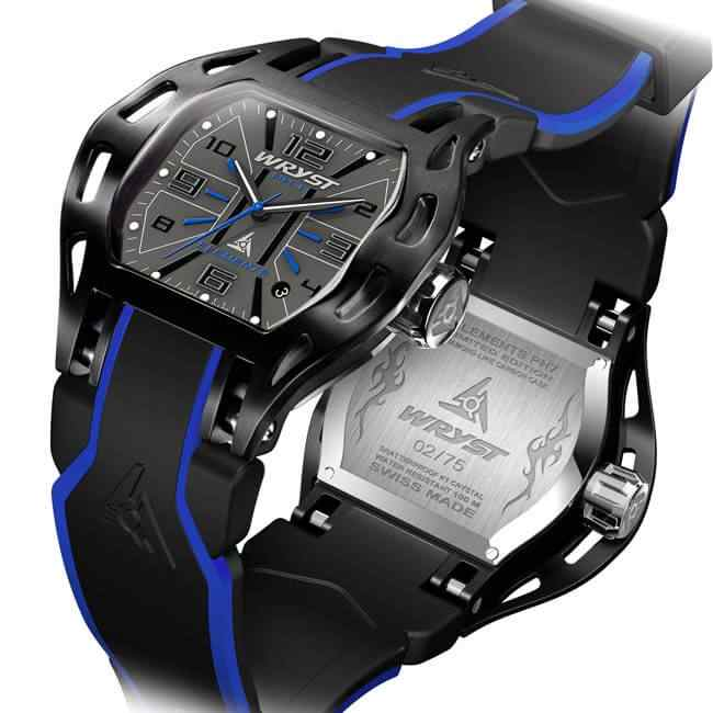Black and Blue Sports Watch Swiss Made