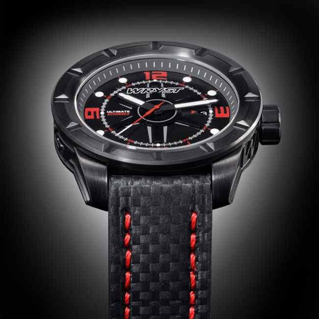 Black carbon fiber watch