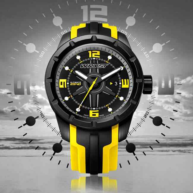 Black DLC Swiss Watch for Sports
