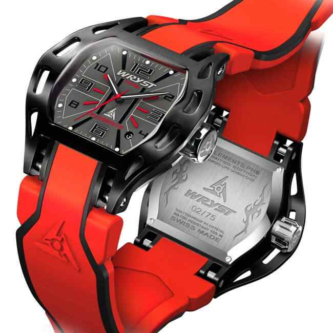 Black and Red Swiss Watch