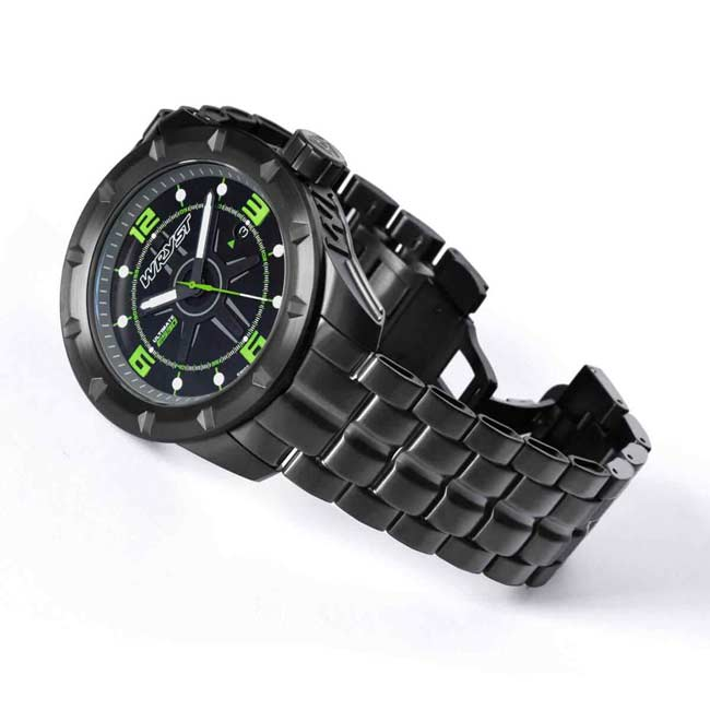Black Sport Watch with Green