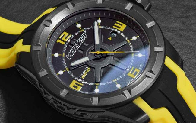 Mens Black Quartz Watch for Sports