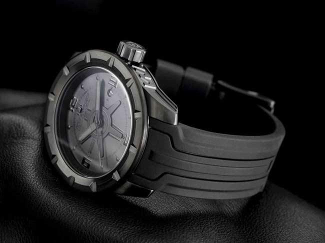 Black Swiss Watch 200 Meters