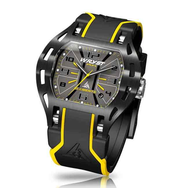 Black and Yellow Sport Watch