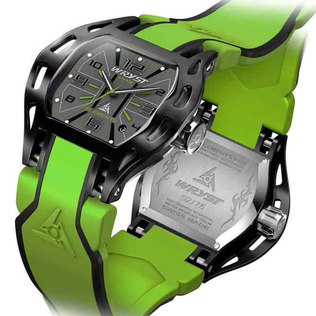 Green Sport Watch Swiss Made