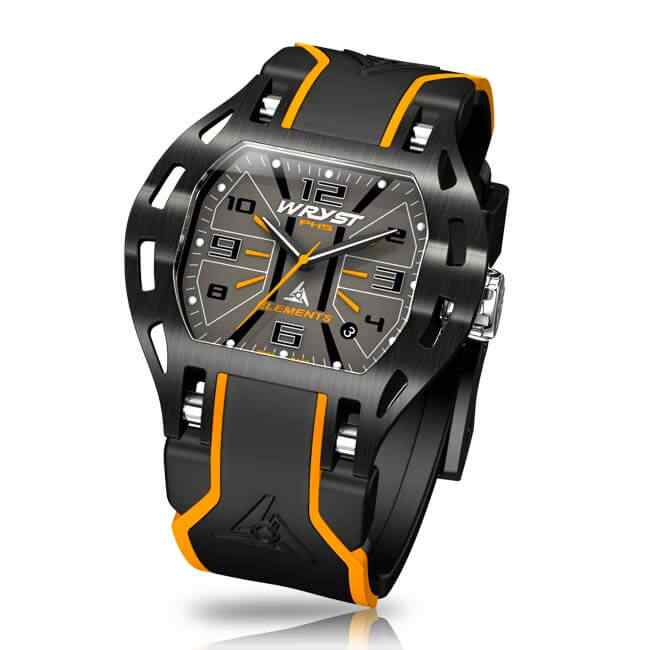 Luxury Swiss Orange Sports Watch