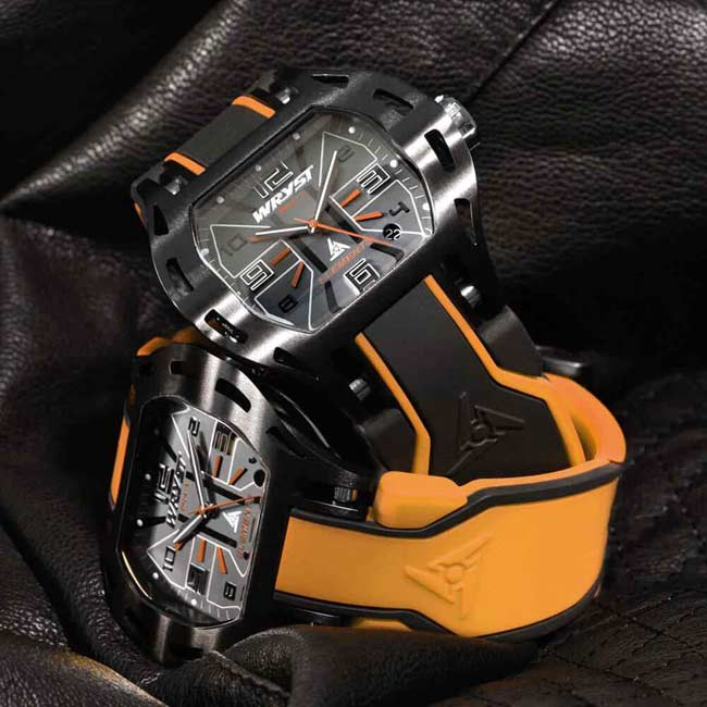 Black and Orange Sports Watch
