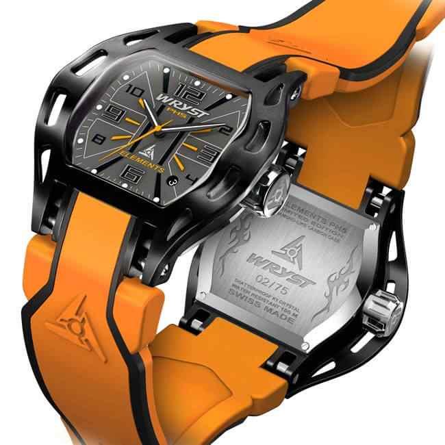 Schweizer Orange Sportuhr Wryst