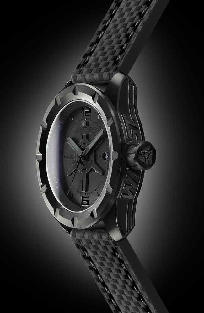 Scratch Resistant Black Watch Wryst ES20 Carbon Fiber Bracelet